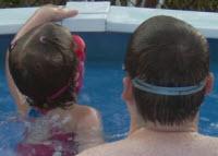 dick and susan swimming